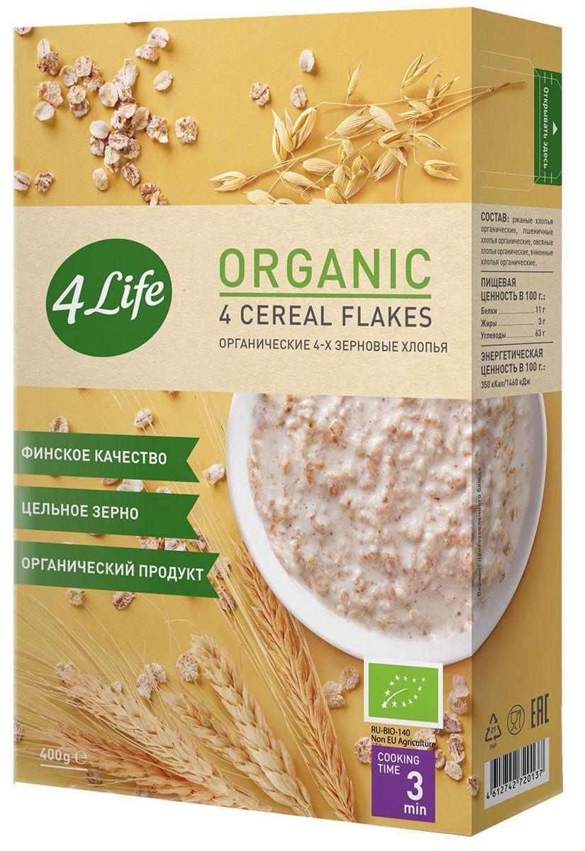 4LIFE органические 4-х зерновые хлопья 400 г