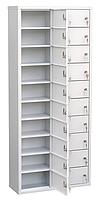 Шкаф индивидуального хранения вертикальный 20 ячеек 600х220х1400) арт. ИШК 20