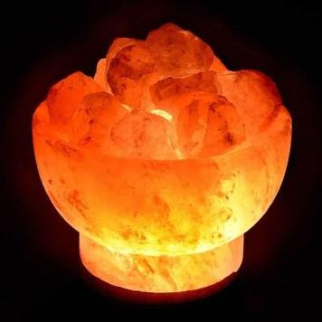 Солевая лампа - Ваза с камнями