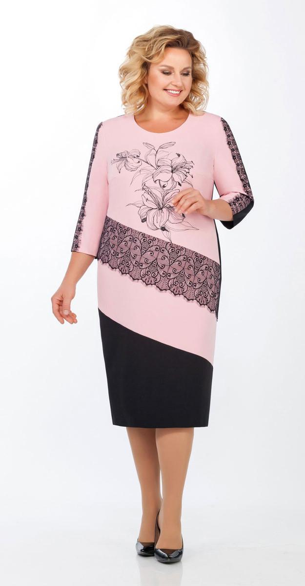 Платье Теллура-Л-1455/2, розовый, 52