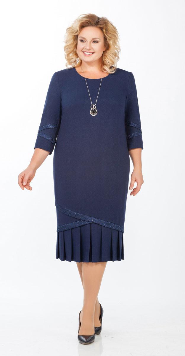 Платье Теллура-Л-1459, синий, 56