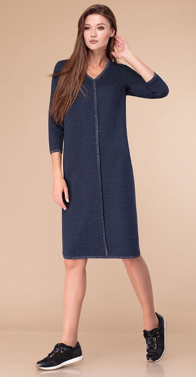 Платье Линия-Л-1752, синий, 48