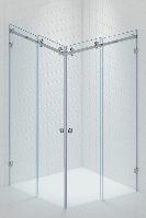 Раздвижная Угловая стеклянная душевая, Две двери. Стекло безопасное 8мм, фото 1