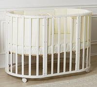Детская кроватка Incanto Mimi 7 в 1 белая с маятником, фото 1