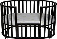 Кроватка - трансформер Антел Северянка 6 в 1 Венге с поперечным маятником, фото 1