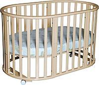 Кроватка - трансформер Антел Северянка 6 в 1 Слон. кость с поперечным маятником, фото 1