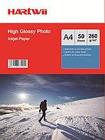 Фотобумага A4 для прин. 260 гр.Hartwii 50л глян.одн.