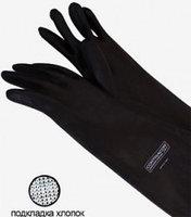 Перчатки пескоструйщика резиновые, гладкие, типа RGS (800 мм)
