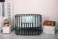 Кроватка овальная Incanto Gio DeLuxe 8 в 1 Шоколад, фото 1