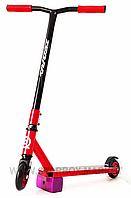 🛴 Самокат трюковый, металлический хомут-  колеса 100 мм (красный или зеленый), самокат для трюков!, фото 1