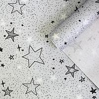 Бумага упаковочная крафтовая «Звездочки», 70 × 100 см, фото 1