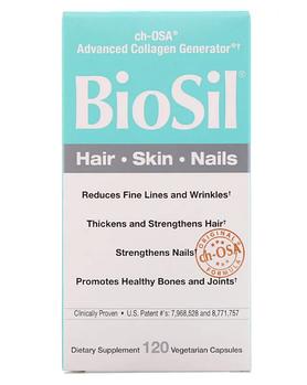 BioSil by Natural Factors, BioSil, ch-OSA, улучшенный источник коллагена, 120 вегетарианских капсул