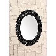 Овальное зеркало настенное 73х58 см цвет черный, CLK886