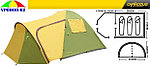 Палатка с тамбуром CHANODUG FX-8953 3-Х местная, фото 4