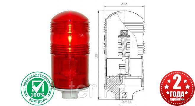 Заградительный огонь «ЗОМ-2» >10cd, тип «А», 30-265V AC/DC, IP65