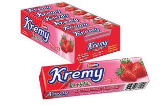 Жевательная конфета Клубника Kremy toffe Saadet (24шт - упак)