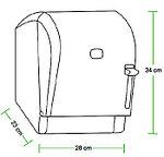 Диспенсер рулонных бумажных полотенец Vialli K8В (медицинский, локтевой, чёрного цвета), фото 3