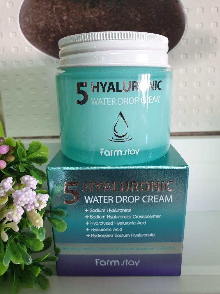 Крем для лица FARMSTAY 5 HYALURONIC WATER DROP CREAM 80ml.