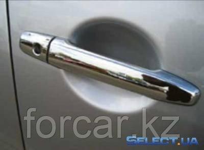 Накладки на ручки (хром) Mitsubishi Lancer 2007, фото 2
