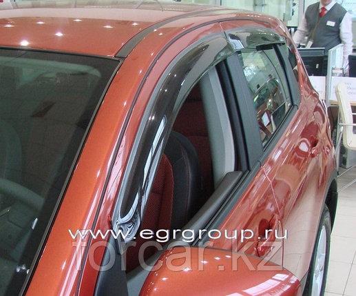 Дефлекторы боковых окон EGR 4 части темные Nissan Qashqai 2007-, фото 2