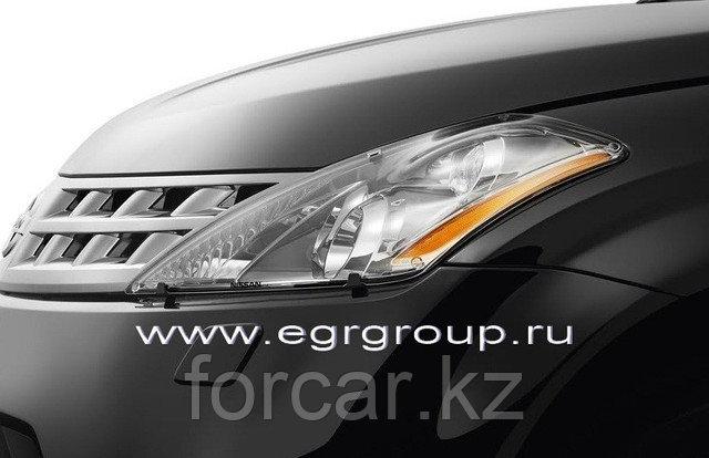 Защита передних фар EGR, SIM прозрачная Nissan Murano 2002-2008, фото 2
