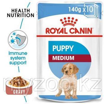 Влажный корм для щенков средних пород Royal Canin  MEDIUM PUPPY 1*140 g