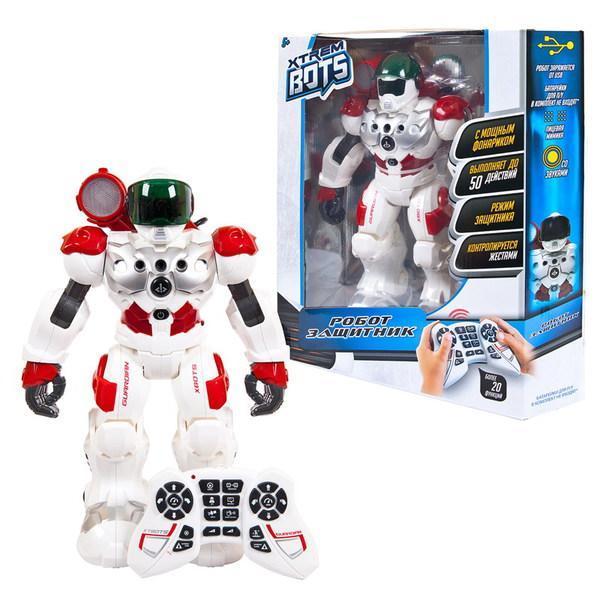 """Робот интерактивный  """"Xtrem Bots Защитник"""" световые звуковые эффекты"""