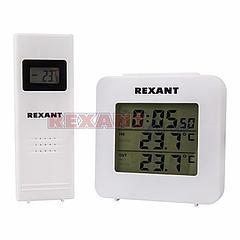 Электронный термометр с часами и беспроводным выносным датчиком, (70-0592 )