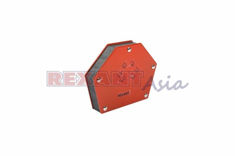Магнитный угольник-держатель для сварки на 6 углов усилие 34 кг REXANT, (12-4833 )