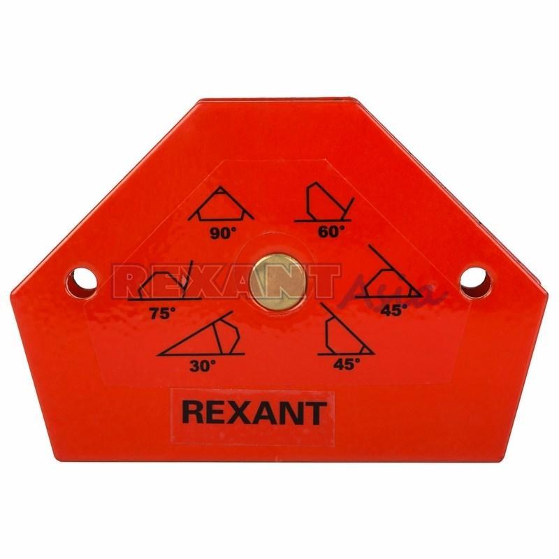 Магнитный угольник-держатель для сварки на 6 углов усилие 11,3 кг REXANT, (12-4831 )