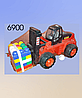 Инерционная машина, грузовик, вилочный погрузчик, пластмассовая, Полесье.