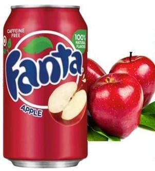 Fanta Apple Красное Яблоко 355ml США (12шт-упак)