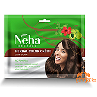"Крем-краска на основе хны ""Темно-коричневая"" (Color cream NEHA), 15 мл"
