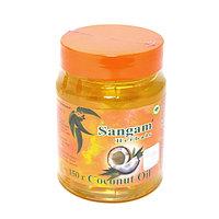 Кокосовое масло нерафинированное, холодного отжима, пищевое ,150 мл,  Сангам, Coconut Oil, Sangam