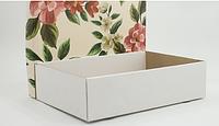 """Коробка со съемной крышкой 350*250*90(мм) с печатью """"Цветочная"""""""