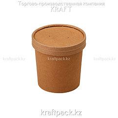 Упаковка для супов,каш,мороженного с картонной крышкой 340мл (Eco Soup 12C PK) DoEco (25/250)