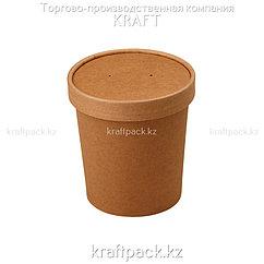 Упаковка для супов,каш,мороженного с картонной крышкой 470мл (Eco Soup 16C PK) DoEco (25/250)