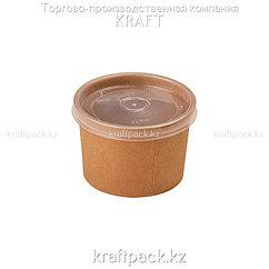 Упаковка для супов,каш,мороженного с пластиковой крышкой 230мл (Eco Soup Econom 8C) DoEco (25/250)