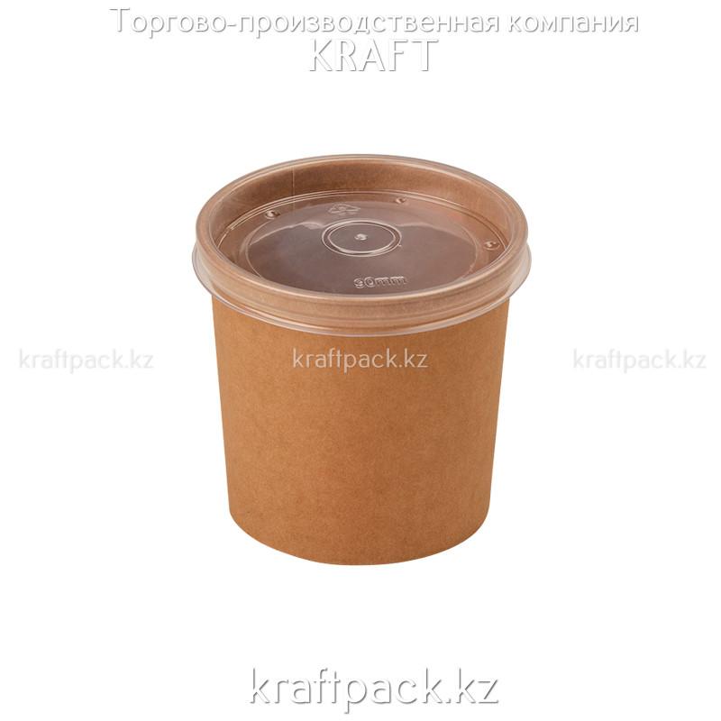 Упаковка для супов,каш,мороженного с пластиковой крышкой 340мл (Eco Soup Econom 12C) DoEco (25/250)