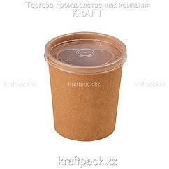 Упаковка для супов,каш,мороженного с пластиковой крышкой 470мл (Eco Soup Econom 16C) DoEco (25/250)