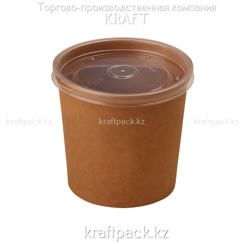 Упаковка для супов,каш,мороженного с пластиковой крышкой 760мл (Eco Soup Econom 26C) DoEco (25/250)