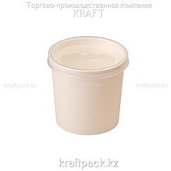 Упаковка для супов,каш,мороженного Белая с пластиковой крышкой 340мл (Eco Soup Econom 12W) DoEco (25/250)