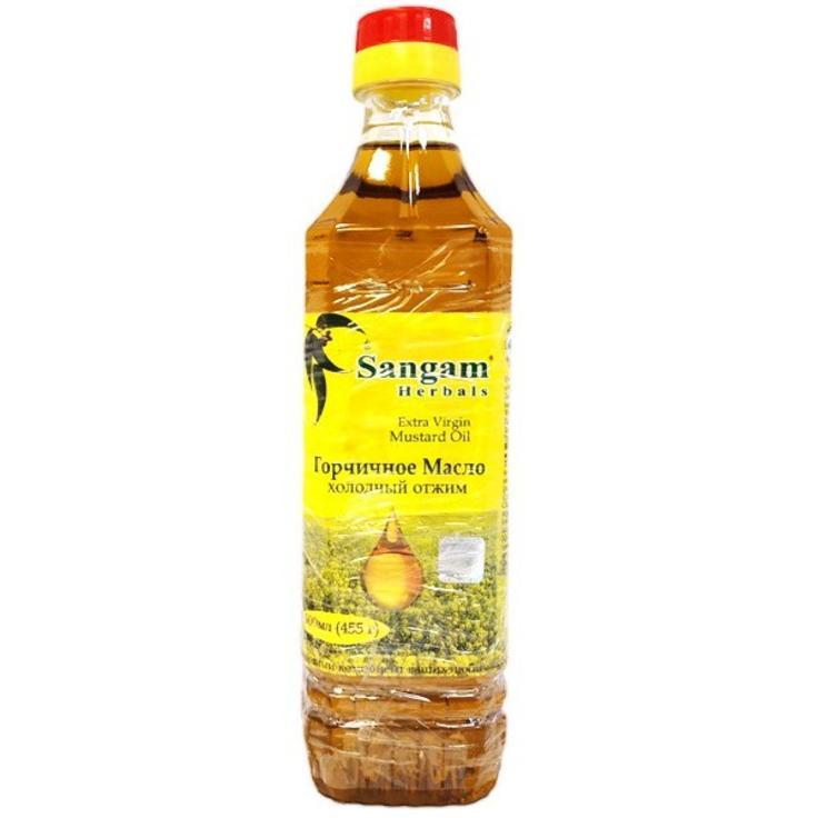 Горчичное масло холодного отжима, 500 мл, Сангам