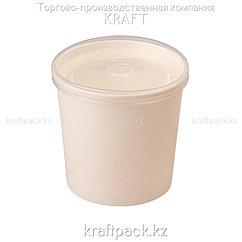 Упаковка для супов,каш,мороженного Белая с пластиковой крышкой 760мл (Eco Soup Econom 26W) DoEco (25/250)