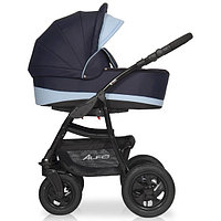 Детская коляска RIKO ALFA BASIC 2 в 1 серый/голубой, фото 1