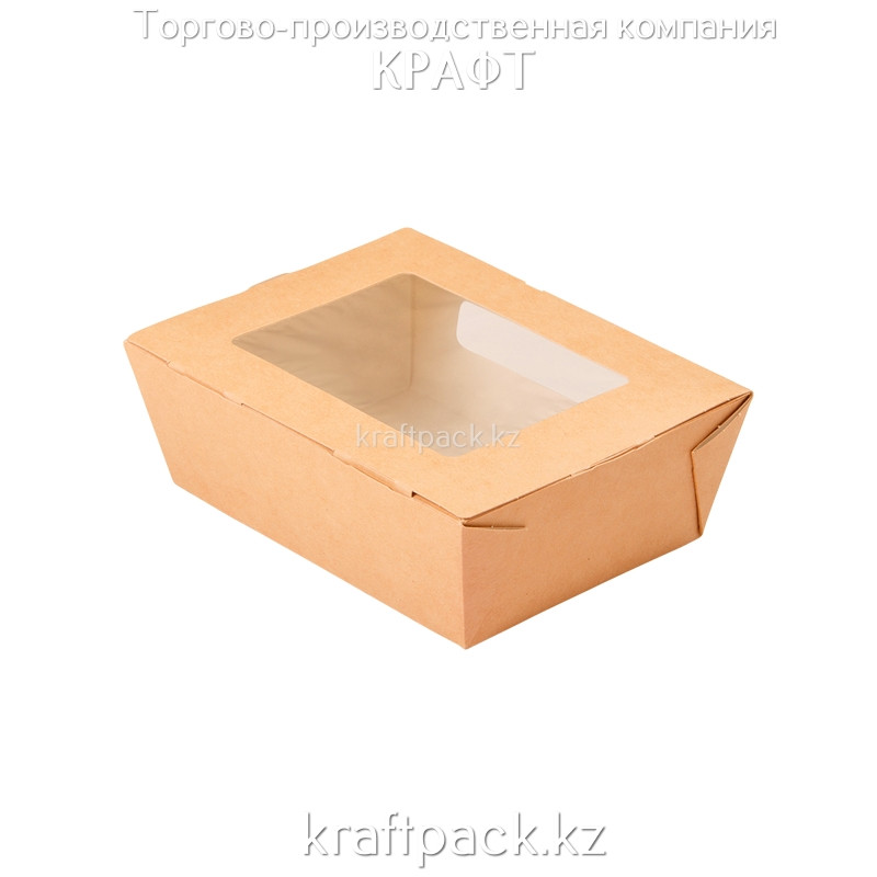 Ланчбокс с окном 600мл 150*115*50 (Eco Salad 600) DoEco (50/350)