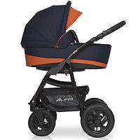 Детская коляска RIKO ALFA BASIC 2 в 1 серый/оранжевый, фото 1