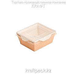 Контейнер, салатник с прозрачной крышкой 350мл 100*85*55 (Eco Opsalad 350) DoEco (50/350)
