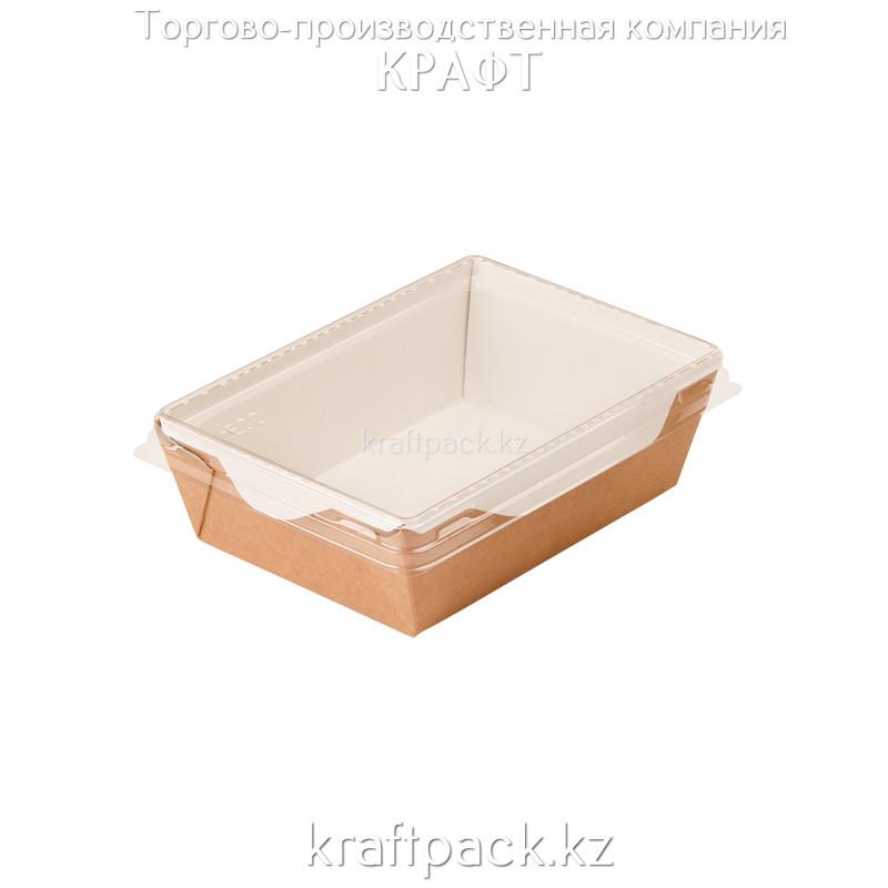 Контейнер, салатник с прозрачной крышкой 400мл 120*85*45 (Eco Opsalad 400) DoEco (50/400)
