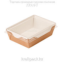 Контейнер, салатник с прозрачной крышкой 500мл 140*105*45 (Eco Opsalad 500) DoEco (50/300)